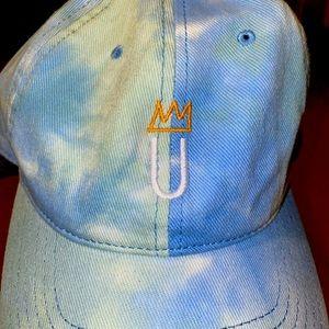 LUSU Designs Tie Dye Cap White Logo Label
